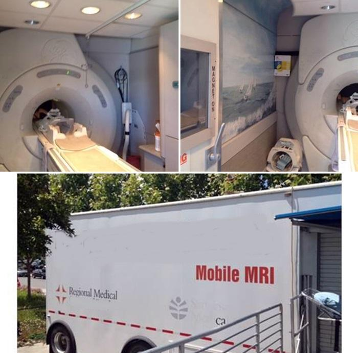 GE 1.5T mobile MRI 9x platform in 48' trailer