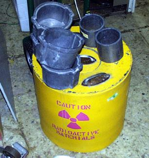 Lead Lined Radioactive Material Decay Drum